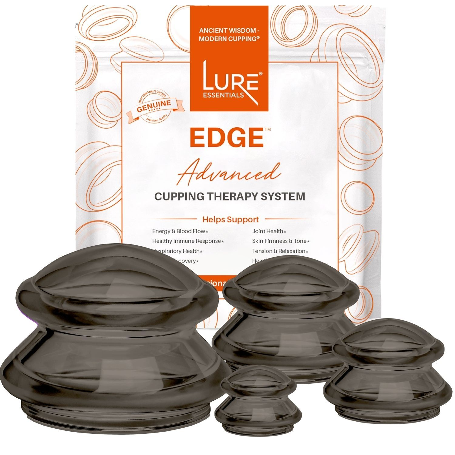 EDGE™ Cupping Set of 4 - Onyx