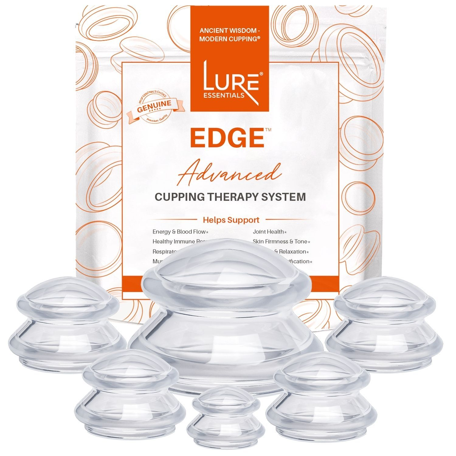 EDGE™ Cupping Set of 6 - Clear