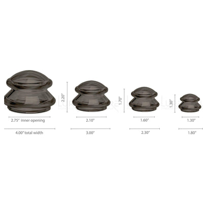 EDGE™ Cupping Set of 4 - Onyx - Lure Essentials