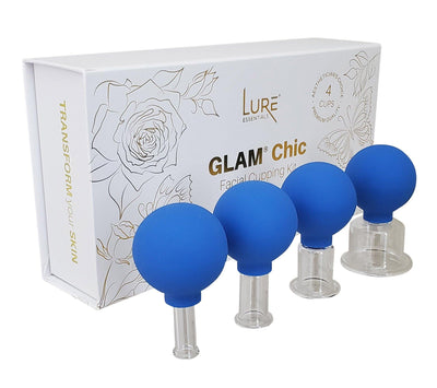 GLAM Chic Professional Face Cupping Set - Blue - Lure Essentials
