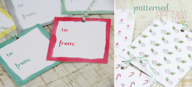 Patterned Gift Tags for the Holidays