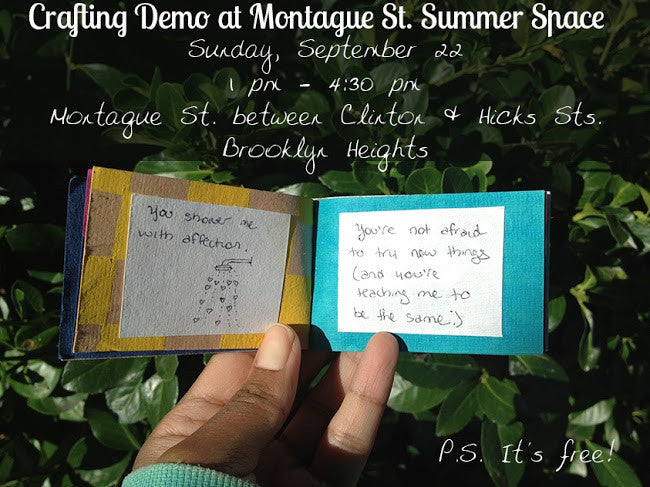Free Crafting Demo at Montague St. Summer Space