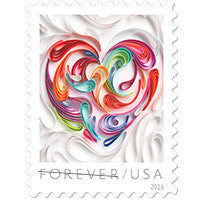 Quilled Paper Heart Stamps