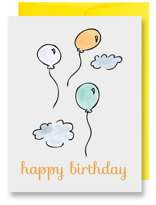 Balloons Sky Birthday Card