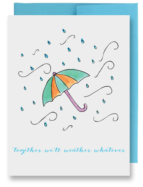 Rain Umbrella Sympathy Card
