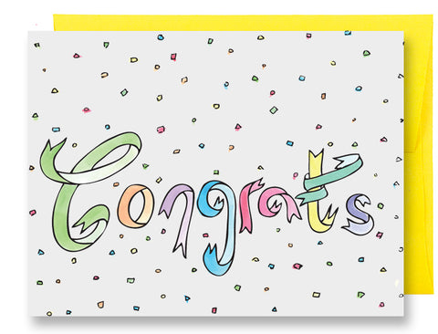 Congrats Ribbons Card