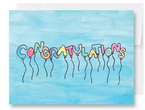 Congratulations Balloons Card
