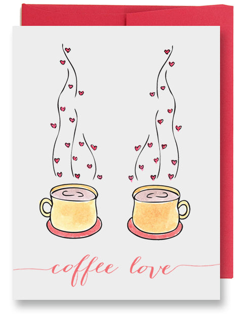 Folded Custom Coffee Love Card