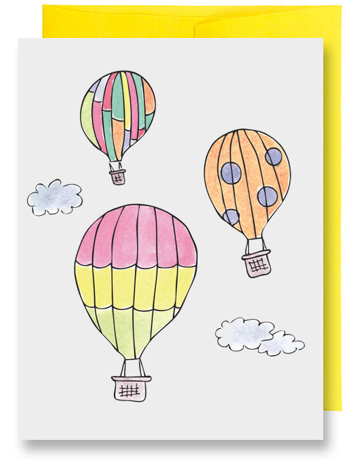 Folded Custom Hot Air Balloons Card