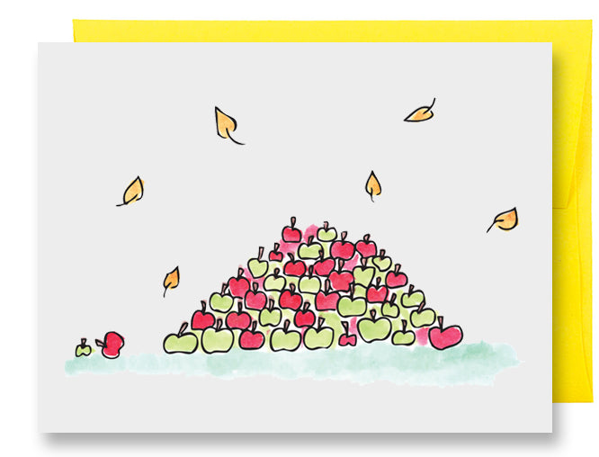 Folded Custom Apple Pile Card