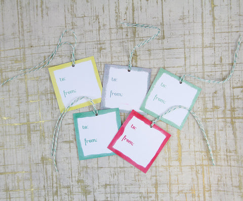 Holiday Gift Tags - Watercolor Patterns
