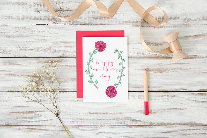 Long-Stemmed Flowers Mother's Day Card