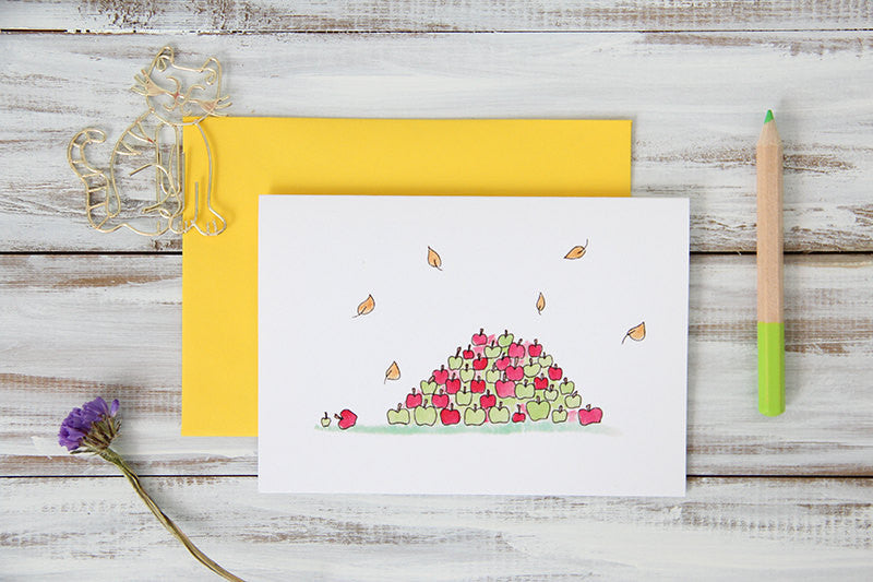 Apple Pile Card
