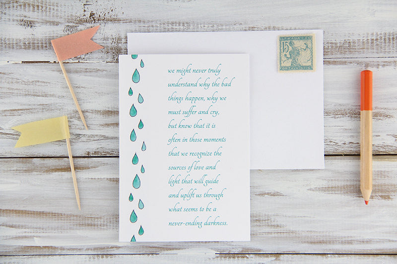 Raindrops Sympathy Card