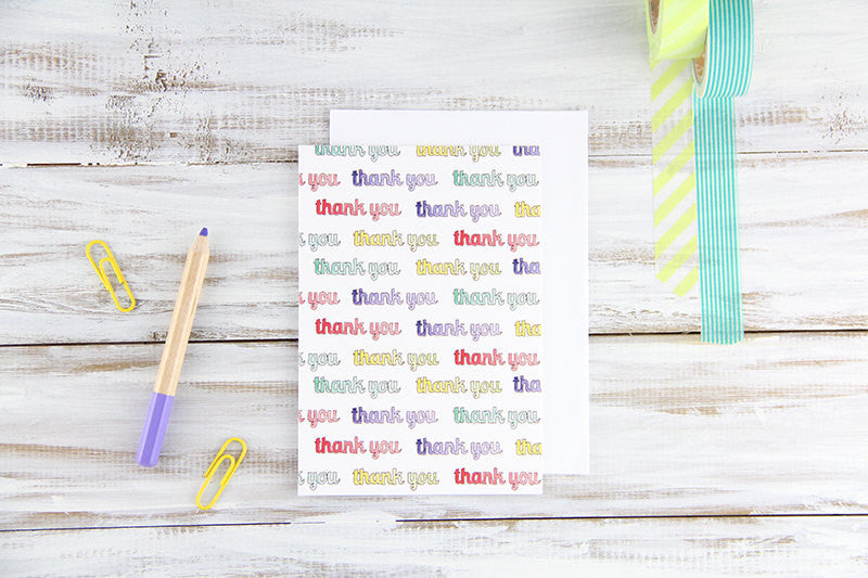 Folded Custom Thank Yous Card