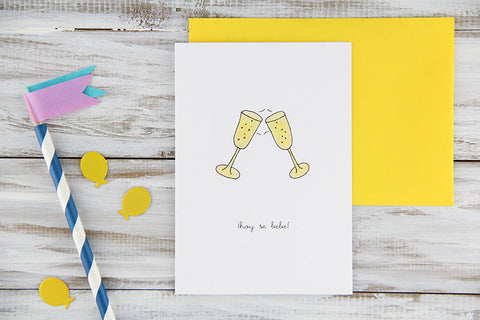 Hoy Se Bebe Spanish Congratulations Card