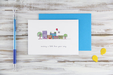 Little Town Card