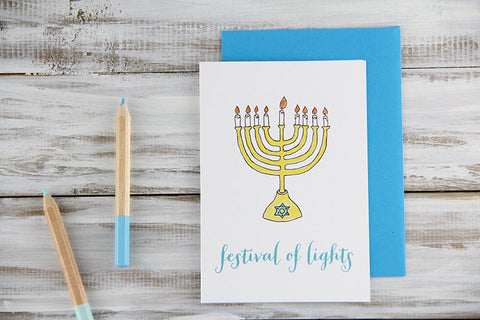 Festival of Lights Hanukkah Card
