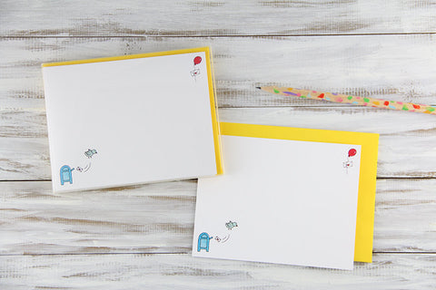 Air Mail Flat Notecards
