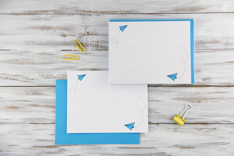Paper Planes Flat Notecards