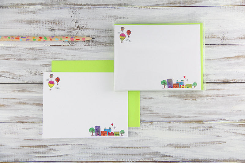 Little Town Flat Notecards