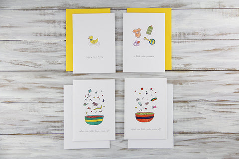New Baby Cards Set