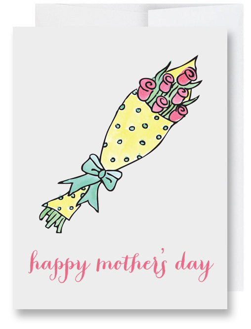 Red Roses Mother's Day Card