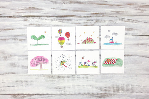 Mini Lined Nature Notecards