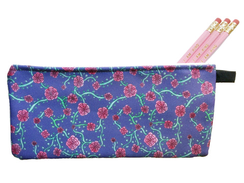Floral Vines Pencil Pouch