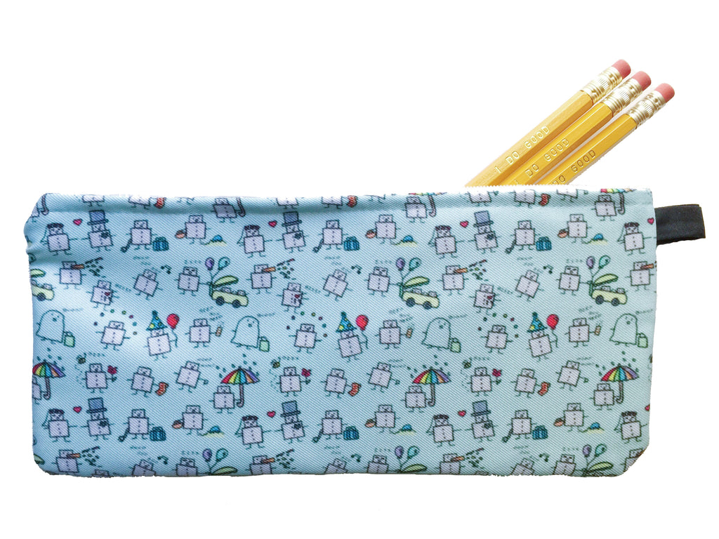 Tiny Robots Pencil Pouch