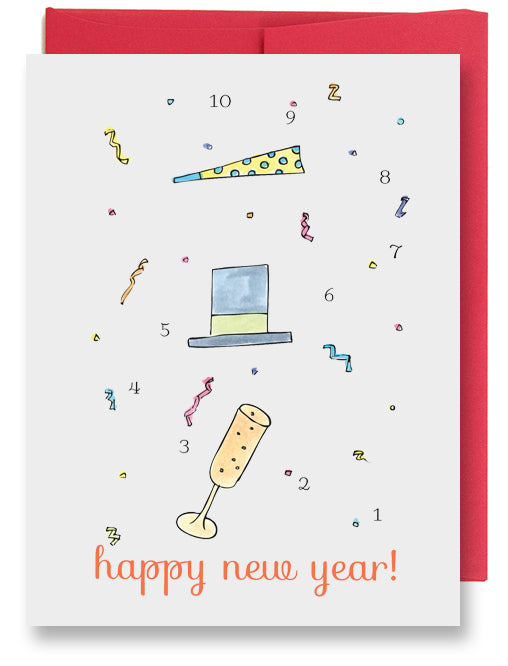 New Year's Countdown Card