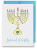Folded Custom Festival of Lights Hanukkah Card