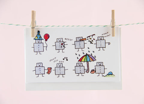 Tiny Robots Gift Enclosure Set