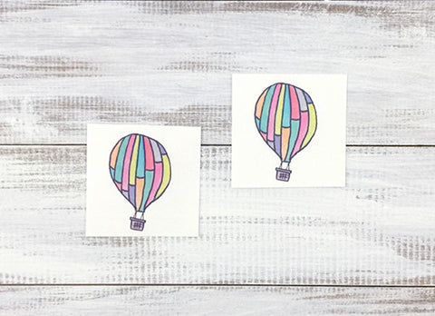 Hot Air Balloon Temporary Tattoos