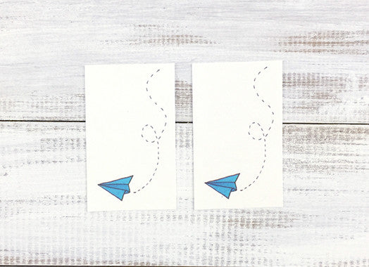 Paper Planes Temporary Tattoos