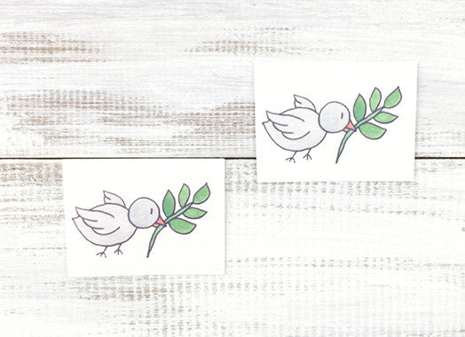 Peace Dove Temporary Tattoos