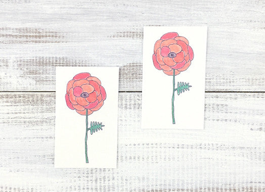 Poppy Flower Temporary Tattoos