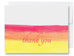 Orange Watercolors Thank You Card