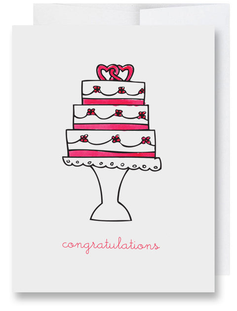 Folded Custom Wedding Cake Card