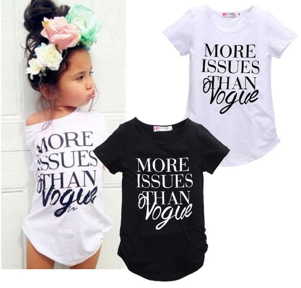 "Girl's ""More Issues than Vogue"" top"