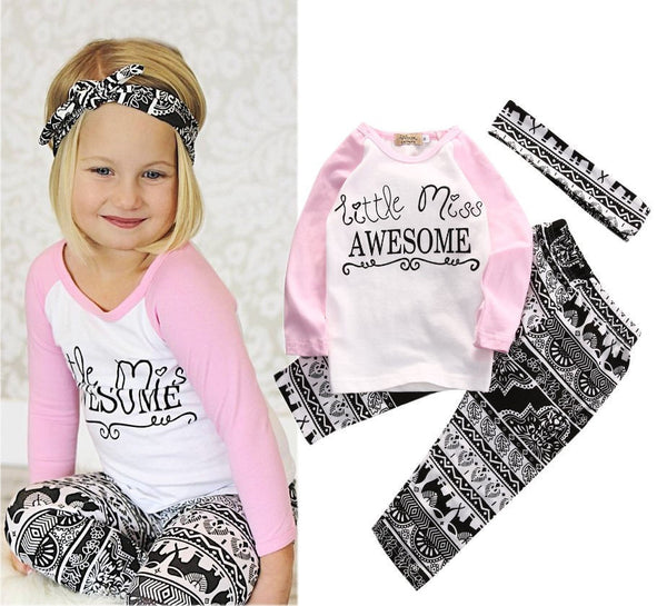 Little Miss Awesome 3 pc Set