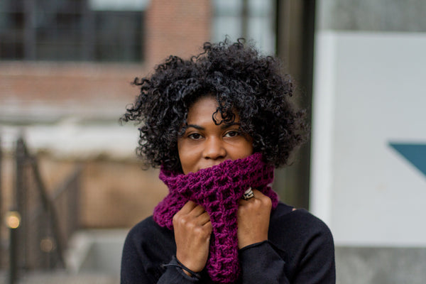 Honeycomb Cowl Scarf