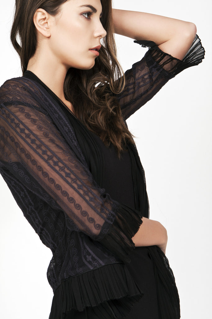 Kebaya Black Silk Jacket