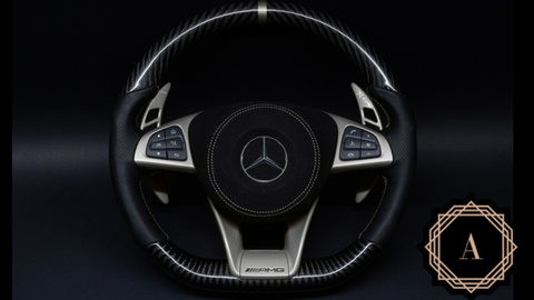 Custom Mercedes Benz Carbon Fiber Steering Wheel