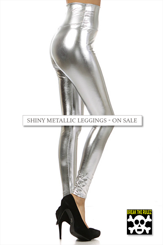 SHINY METALLIC LEGGINGS ON SALE BTR