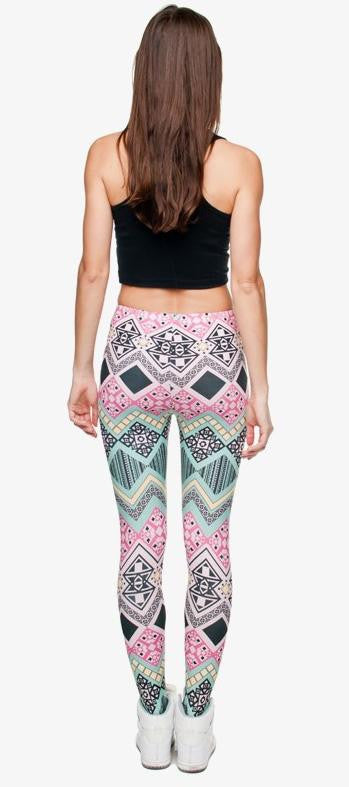SEXY AZTECA PRINT HIGH WAIST LEGGINGS 2