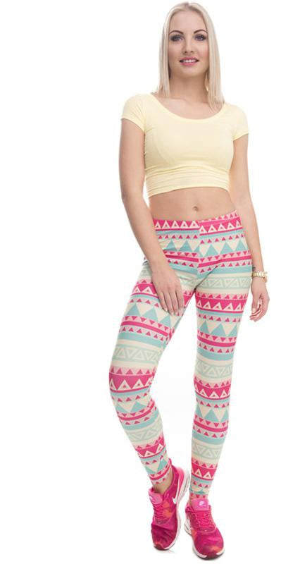 SEXY AZTECA PRINT HIGH WAIST LEGGINGS 4