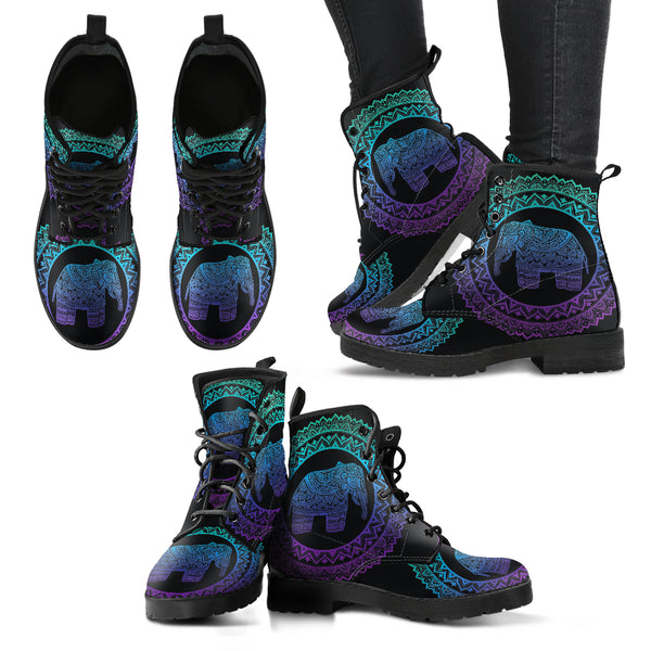 Purple Elephant Handcrafted Vegan Leather Women's Boots