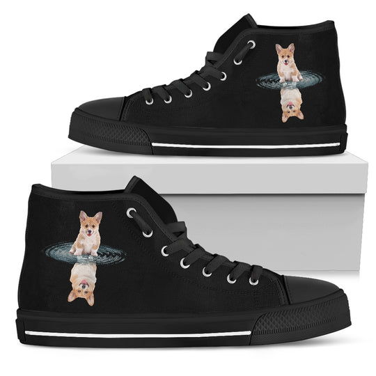 Corgi Dream Reflect Water Women's High Top