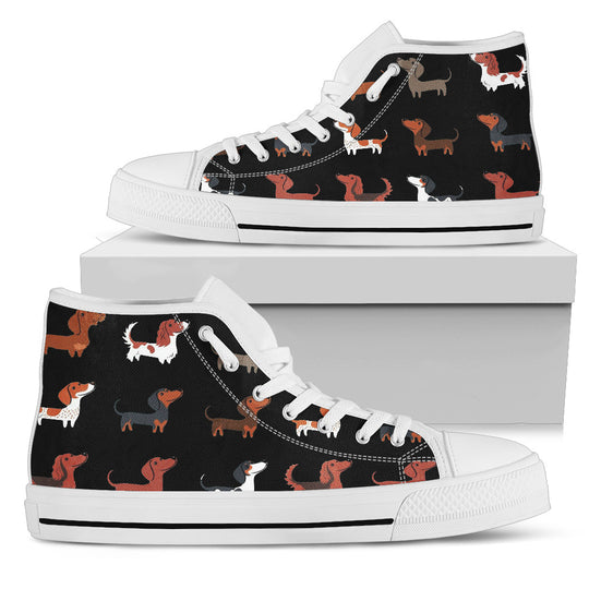Dachshund Lover Shoes - Womens High Top
